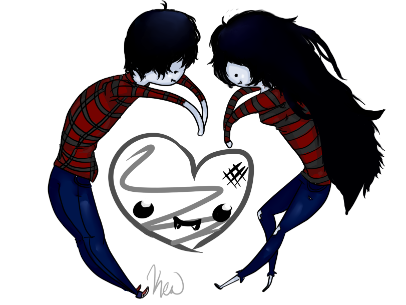 Marshall Lee And Marceline By Kew Chan