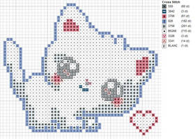 White Kitty Pattern by carand88