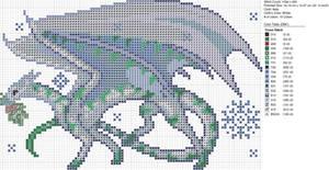 Christmas White Blue Dragon
