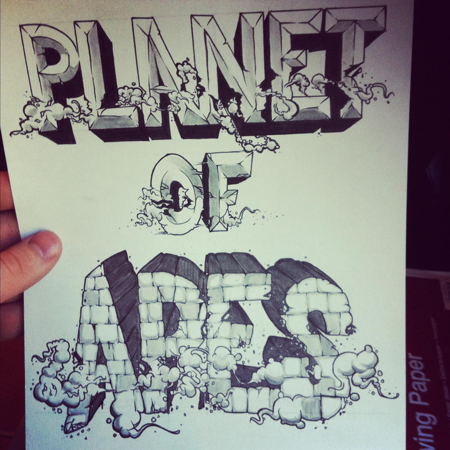 Planet of Apes print by THISISAPES