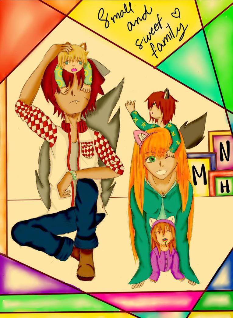 Small and Sweet Family. by ValeryRosemary