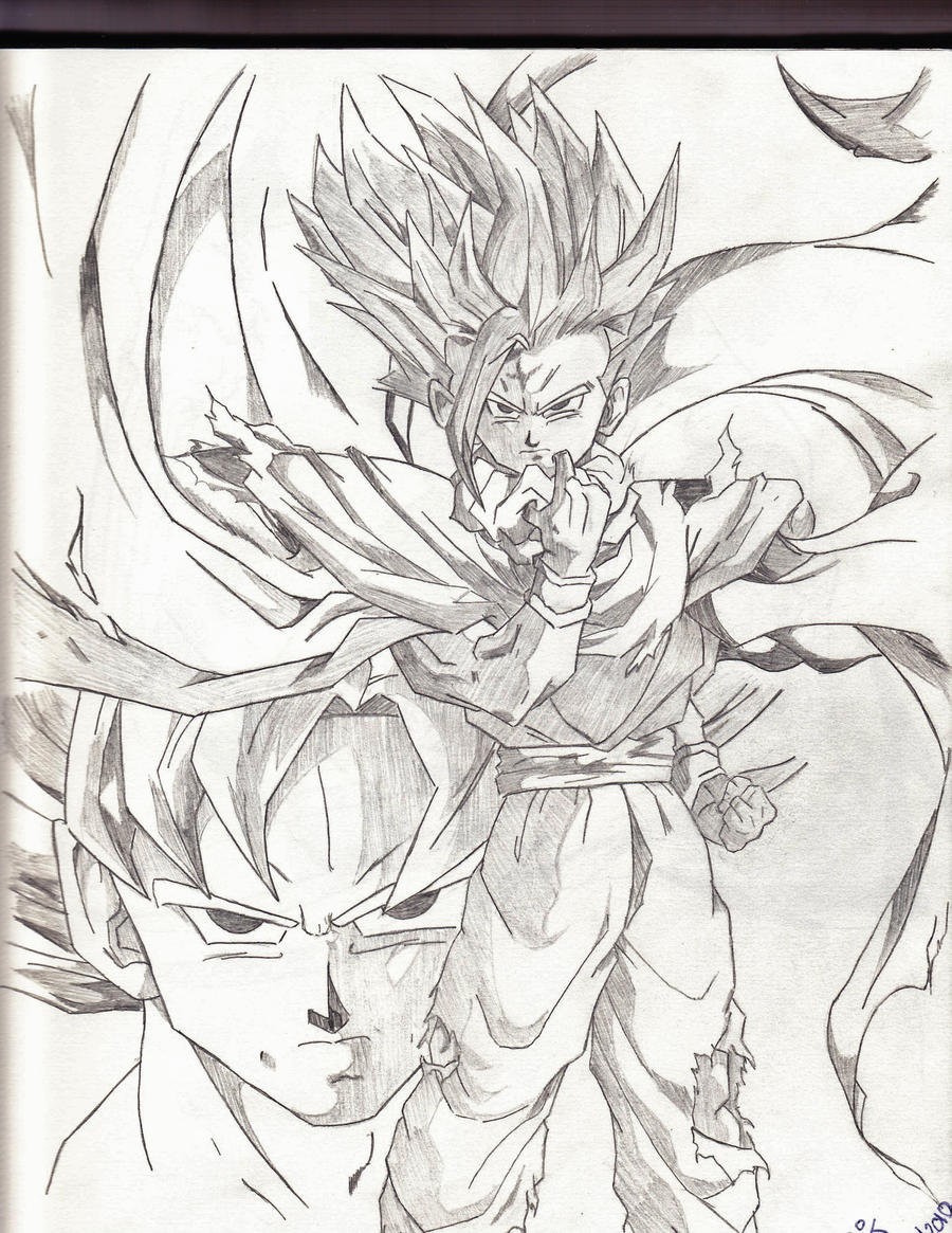 Super Saiyan 2 Gohan and Goku by cjthekidd on DeviantArt