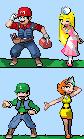 Mario Characters Pokemon Style by megamanx-exe