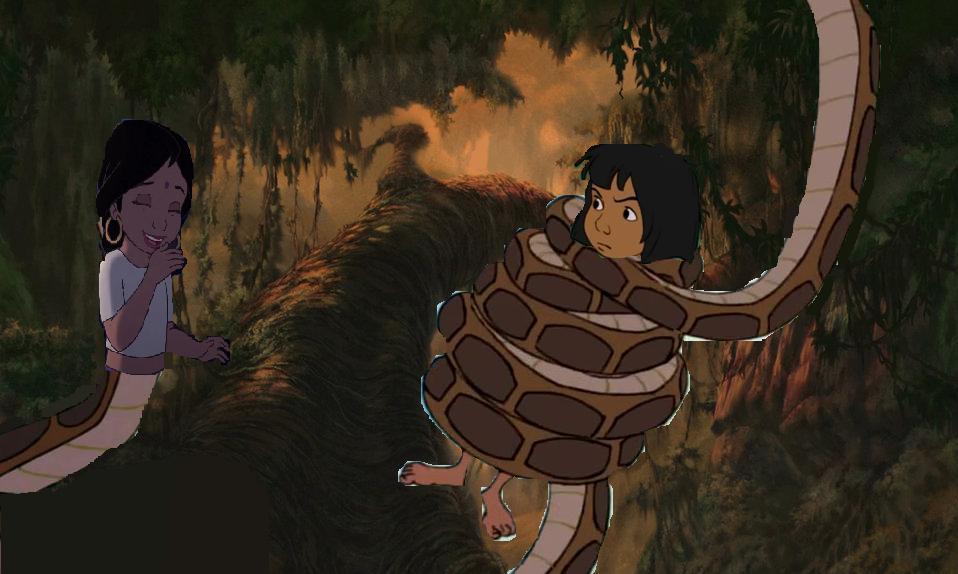 shanti the naga and mowgli by shadowninja287 on deviantart