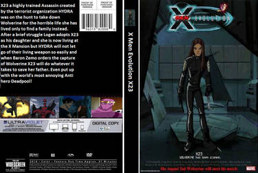 X-23 The Animated Movie DVD Cover by shadowninja287
