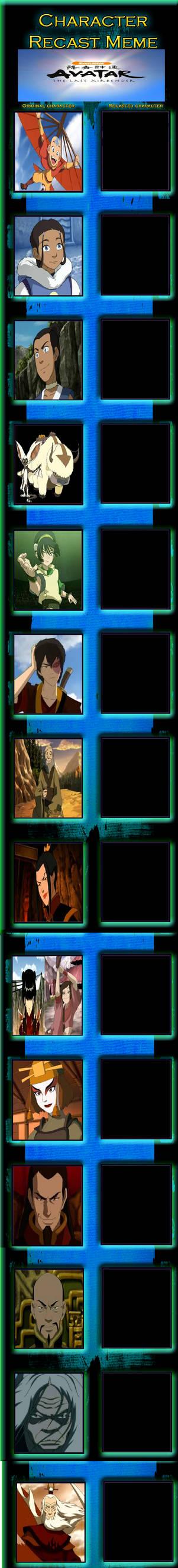 Avatar the last Airbender Recast Meme