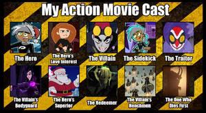 Christmas Action Movie Cast Meme
