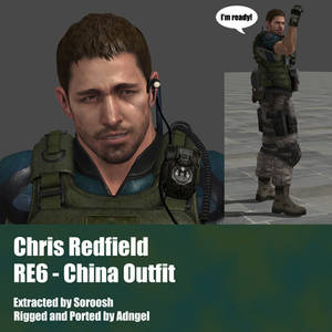 Chris Redfield RE6 China Outfit