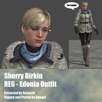 Sherry Birkin RE6 Edonia Outfit by Adngel