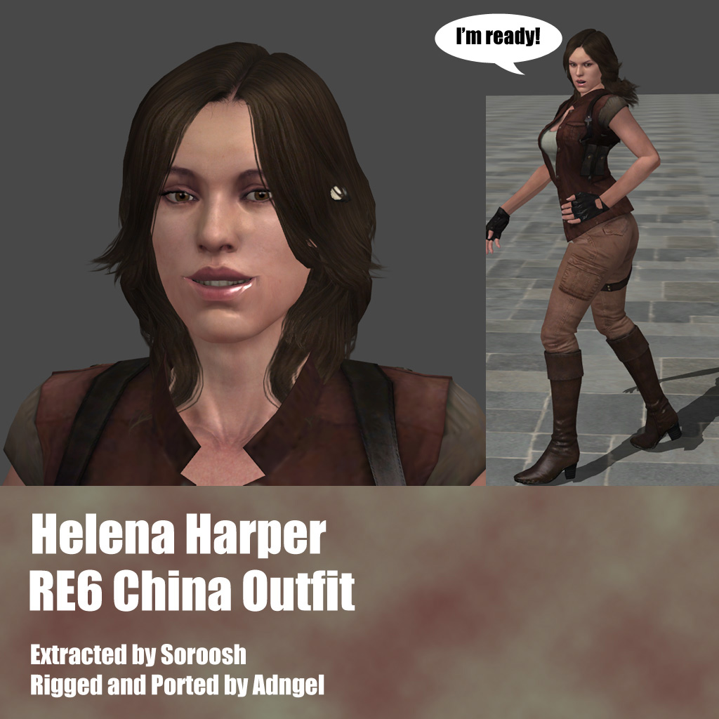 Helena Harper RE6 China Outfit by Adngel