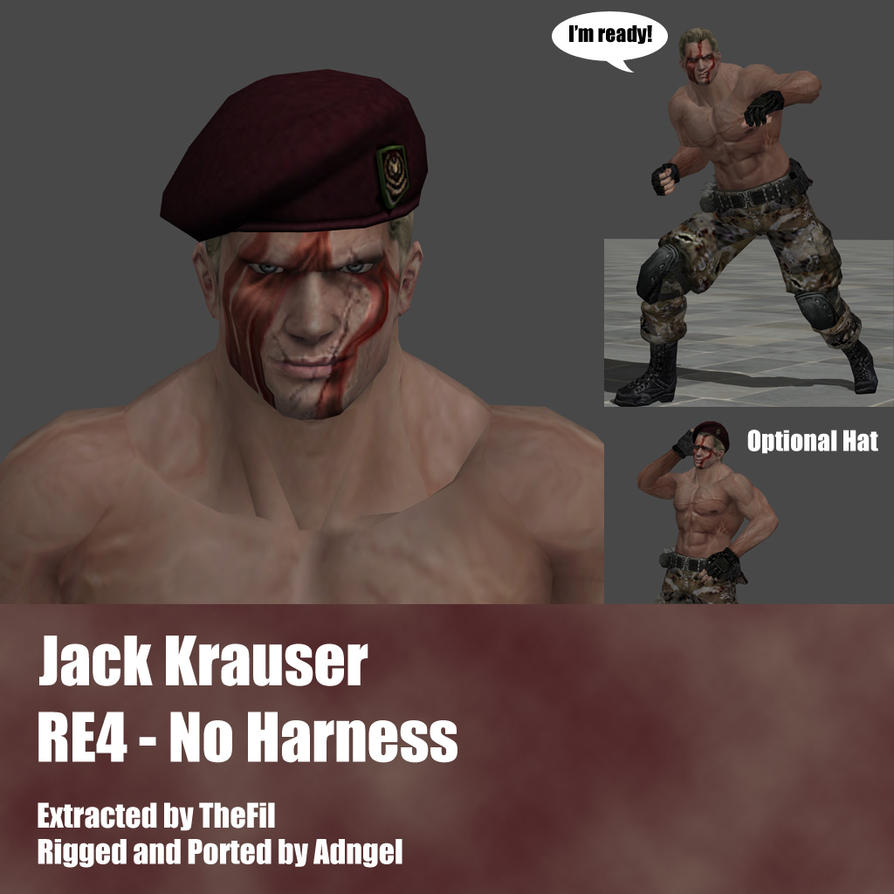 Jack Krauser RE4 No Harness Outfit by Adngel