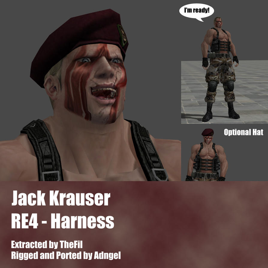 Jack Krauser RE4 Harness Outfit by Adngel