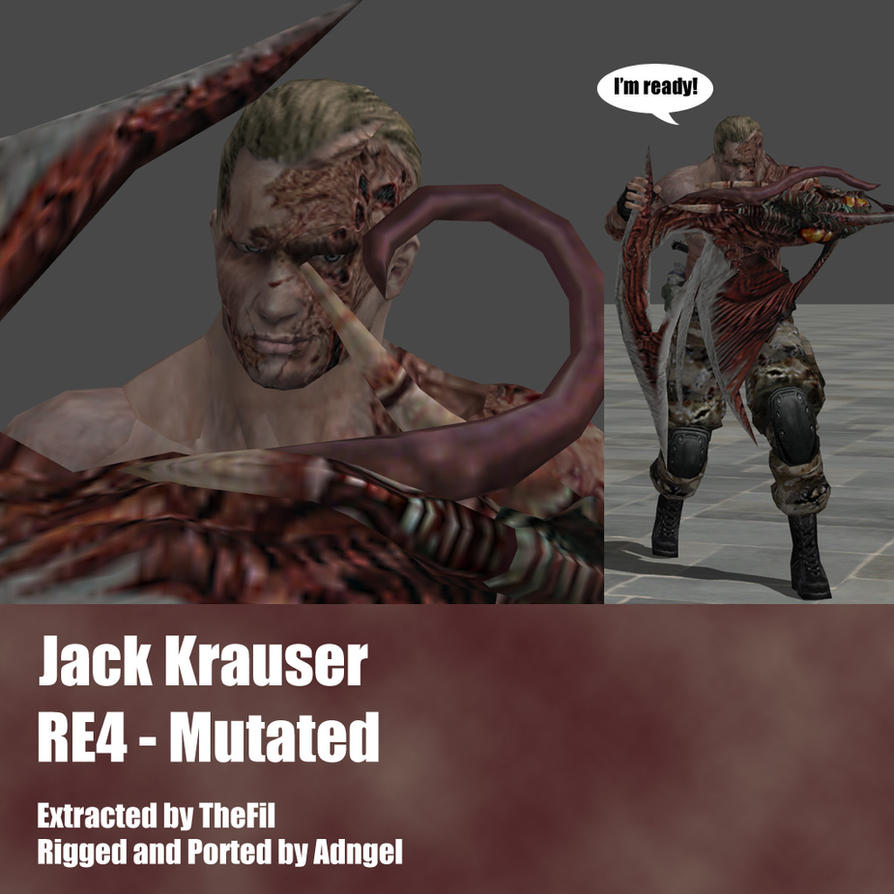 Jack Krauser RE4 Mutated Arm by Adngel