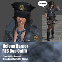 Helena Harper RE6 Cop Outfit by Adngel