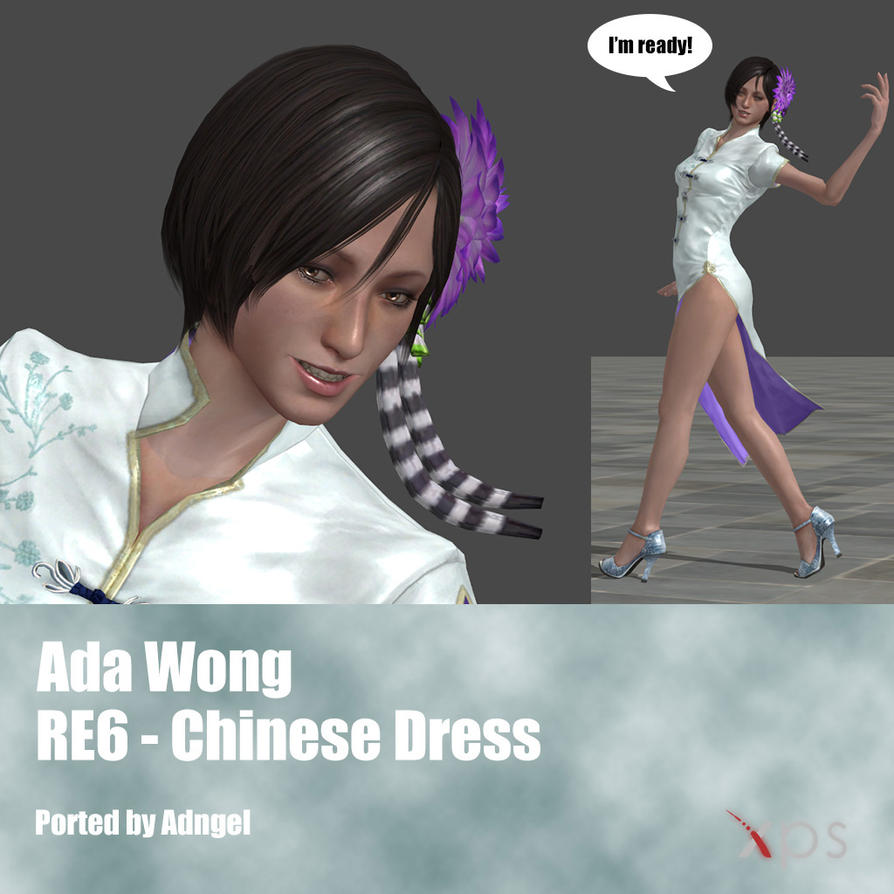 Ada Wong RE6 Chinese Dress Outfit by Adngel