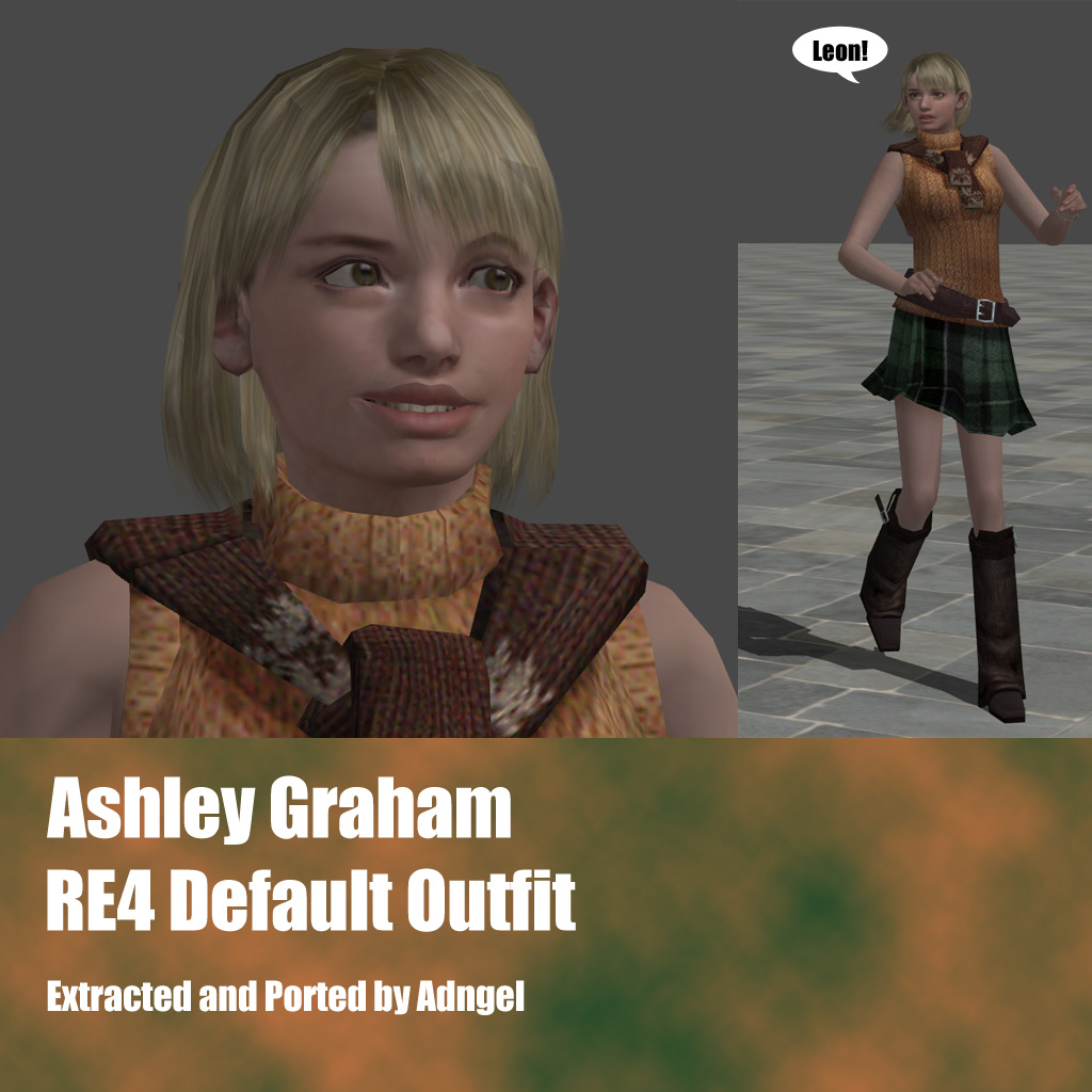 Ashley Graham RE4 Default Outfit by Adngel