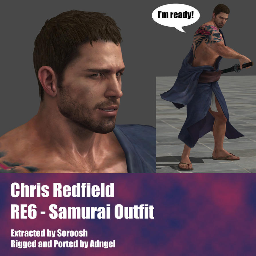 Chris Redfield RE6 Samurai Outfit by Adngel
