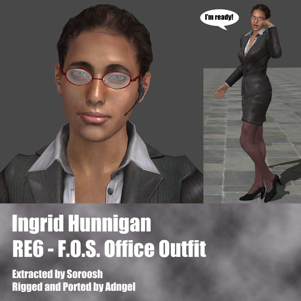 Ingrid Hunnigan RE6 F.O.S. Office Outfit by Adngel