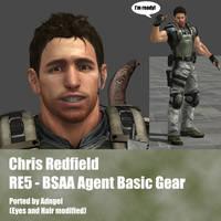 Chris Redfield RE5 BSAA Agent Basic Gear by Adngel