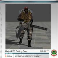 Majini RE5 Gatling Gun