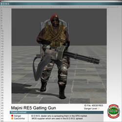 Majini RE5 Gatling Gun by Adngel