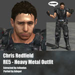 Chris Redfield RE5 Heavy Metal Outfit