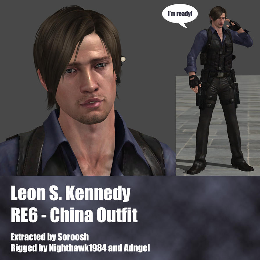 Leon S. Kennedy RE6 China Outfit by Adngel