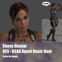 Sheva Alomar RE5 BSAA Agent Basis Gear by Adngel
