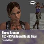 Sheva Alomar RE5 BSAA Agent Basis Gear