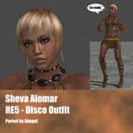 Sheva Alomar RE5 Disco Outfit