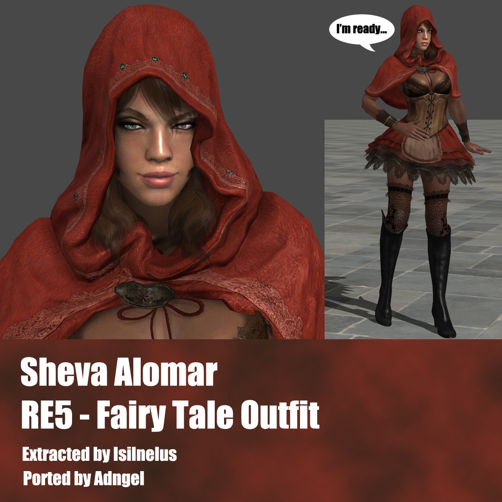 Sheva Alomar RE5 Fairy Tale Outfit by Adngel