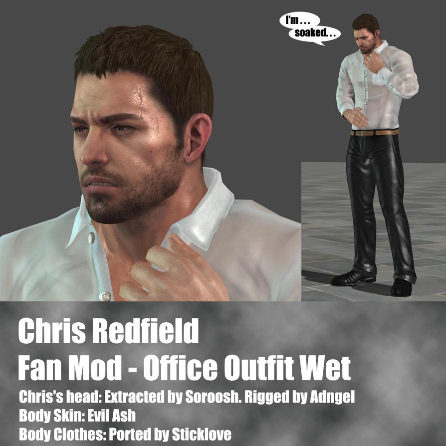 Chris Redfield Fan Mod Office outfit Wet by Adngel