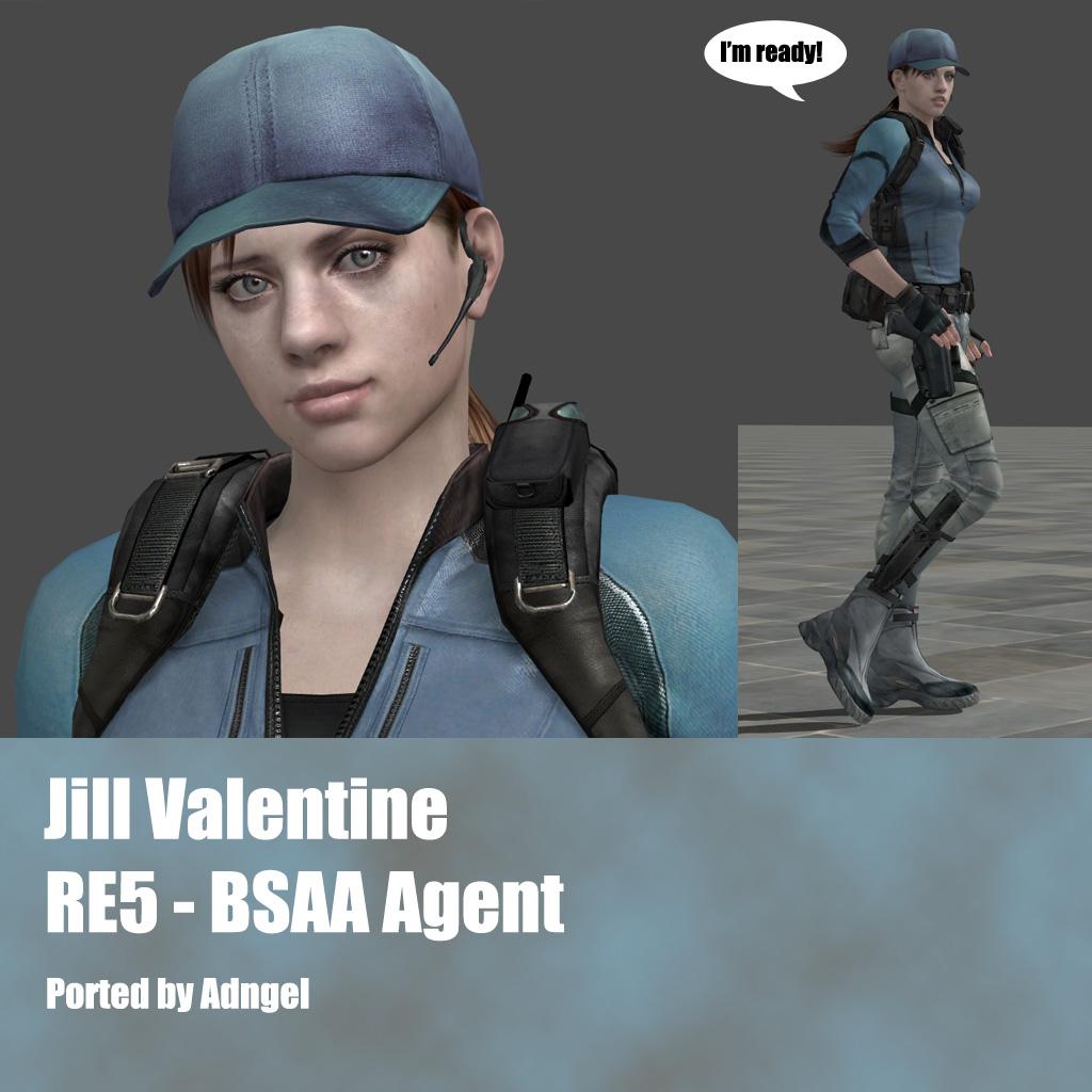 Jill Valentine Re5 Bsaa Agent By Adngel On Deviantart