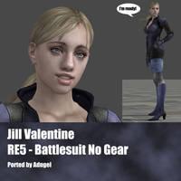 Jill Valentine RE5 Battlesuit No Gear by Adngel