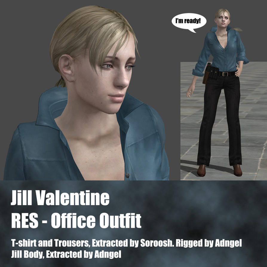 Jill Valentine RES Office Outfit by Adngel