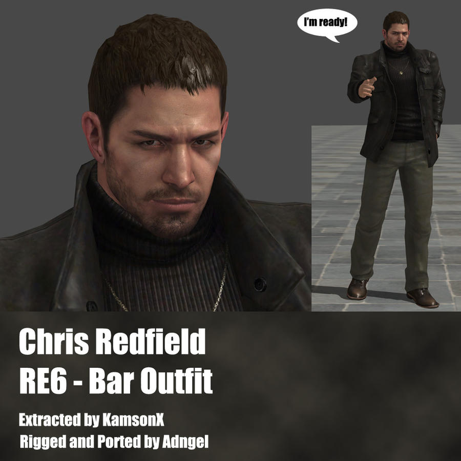 Chris Redfield RE6 Bar outfit