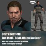 Chris Redfield Fan Mod BSAA China No Gear