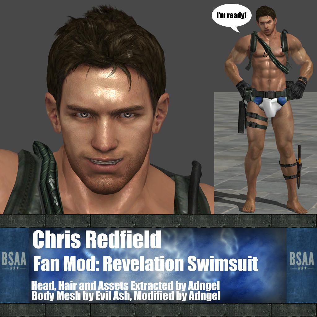 Chris Redfield Fan Mod: Revelation Swimsuit by Adngel on ...