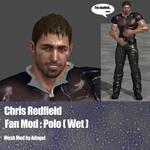 Chris Redfield FanMod Polo Wet