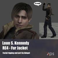 Leon S Kennedy RE4 Fur Jacket by Adngel