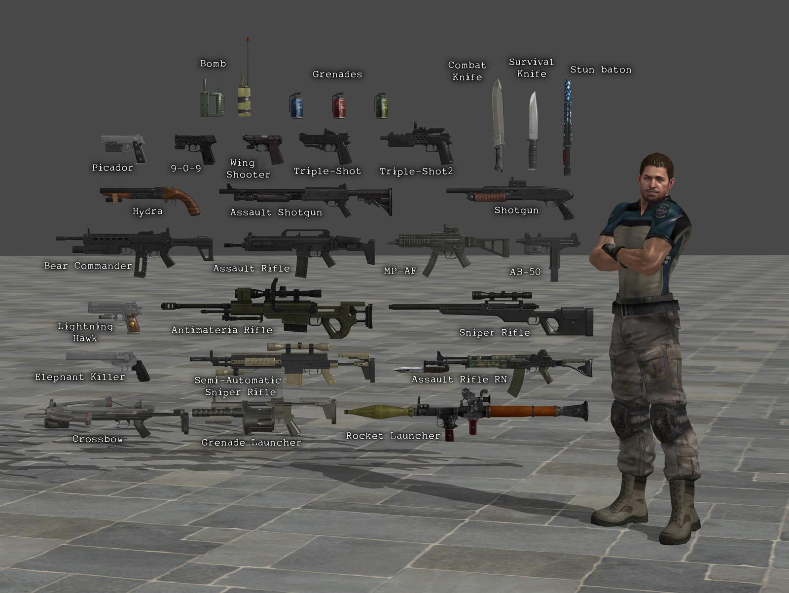Resident Evil 6 Weapons Wallskid