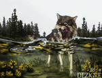 Wolf and Water by Dezigre