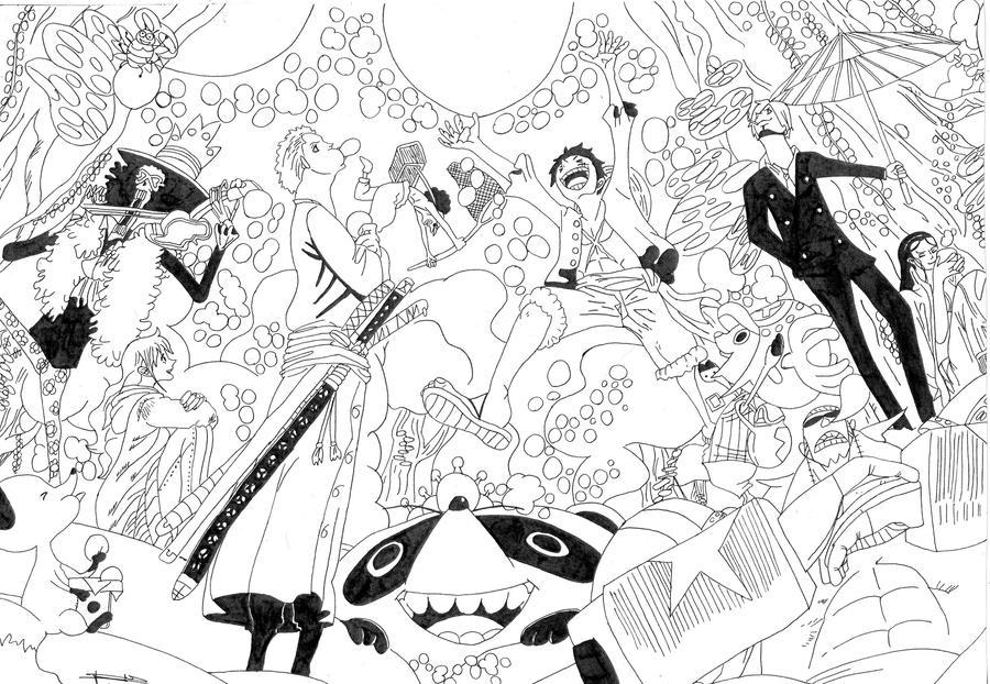 Dessin One Piece By Seky01 On Deviantart