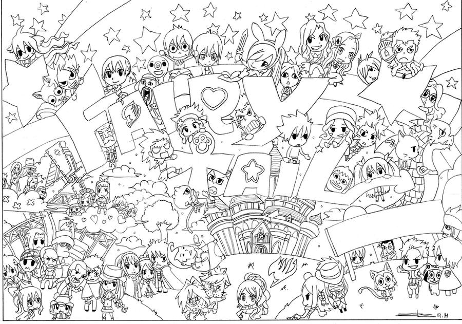Chibi Fairy Tail Coloring Pages