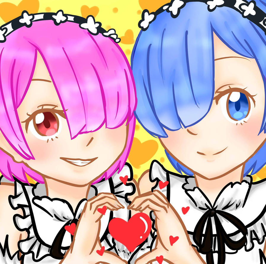 Ram and Rem by DollLouise