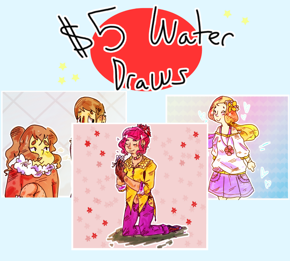 $5 Water draws by decapitated-friitz