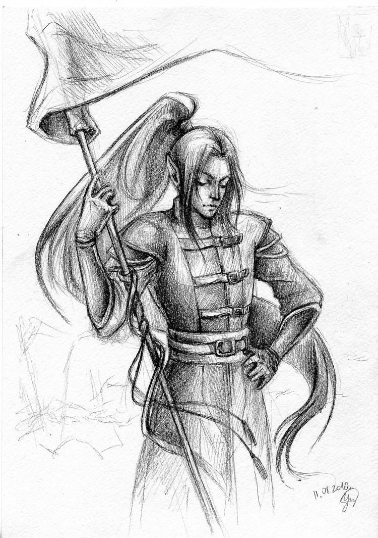 Elven warrior by Aniril-Amakiir