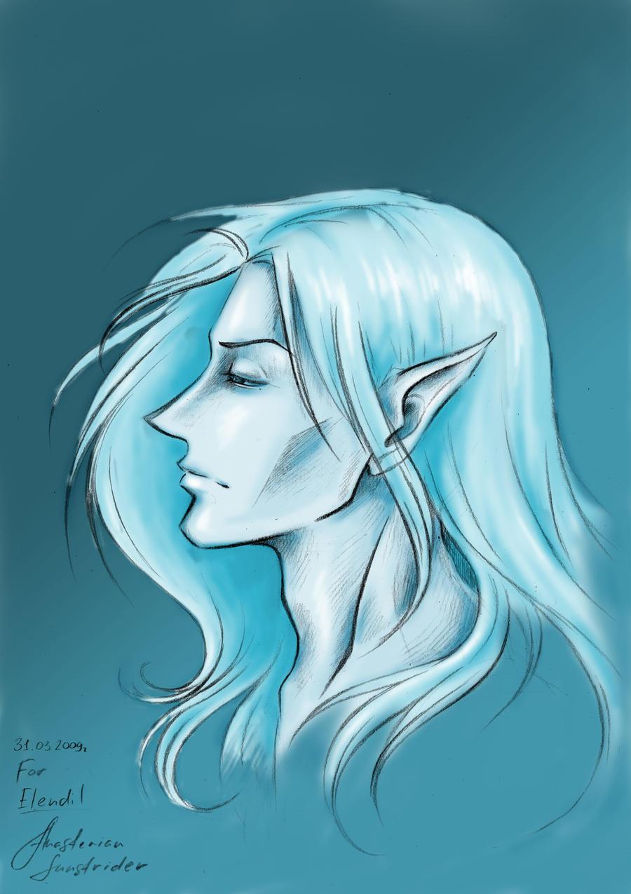Elven portrait by Aniril-Amakiir