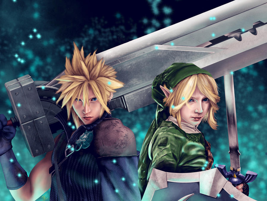 Cloud, and Link by kojirex20