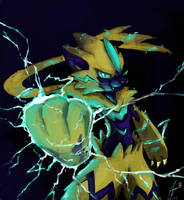 The thunderclap pokemon by Revolart
